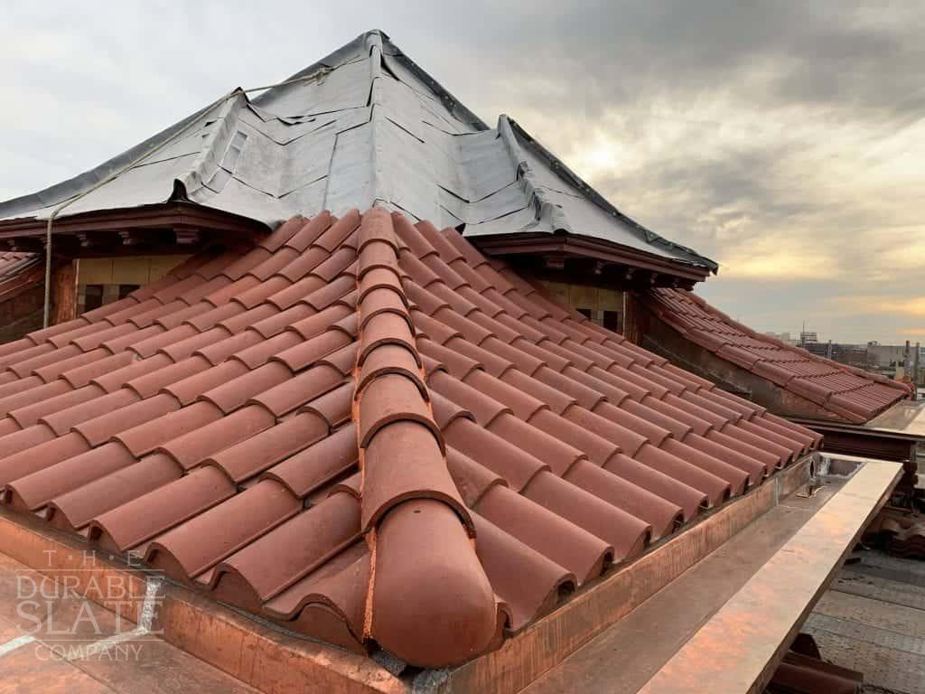clay tile roofing completed on station 67 in columbus ohio