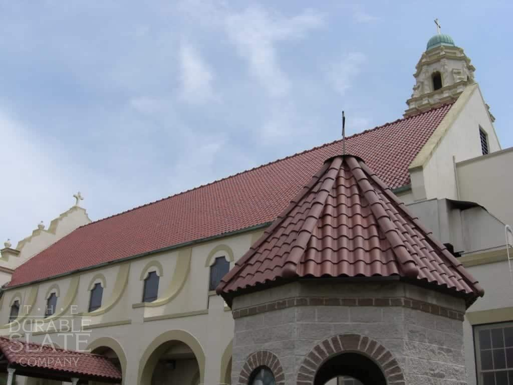 red clay tile turret in louisiana