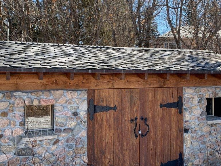 """A German style """"Wild Roof - Wildedeckung"""" in Colorado Springs, CO. For this project we used North Country Black."""